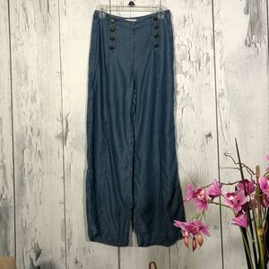 Abercrombie & Fitch Wide Leg High Rise SailorPants